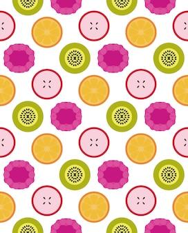 Patrón sin costuras de frutas