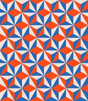 Patrón sin costuras geométrico abstracto Vector Premium