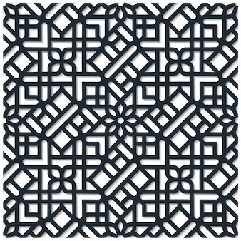Patrón sin costuras geométrico ornamental