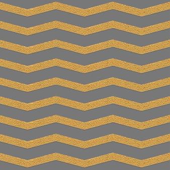 Patrón sin costuras gris zig zag dorado