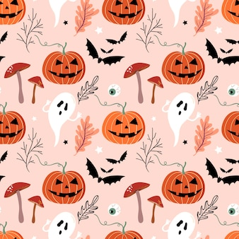 Patrón sin costuras de halloween con elemento estacional