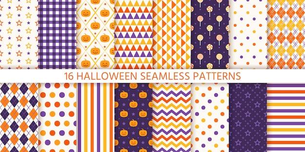 Patrón sin costuras de halloween ilustración. papel de regalo geométrico.