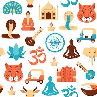Patrón sin costuras india