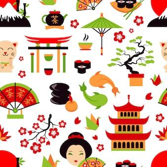 Patrón sin costuras de japon