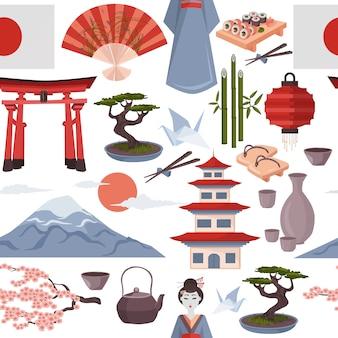 Patrón sin costuras japonés
