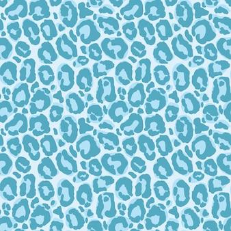 Patrón sin costuras de leopardo azul