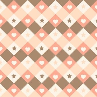 Patrón sin costuras lindo kawaii