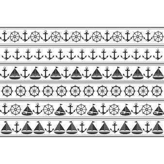 Patrón sin costuras marino