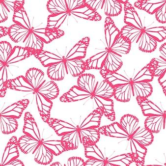Patrón sin costuras mariposas