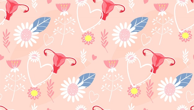 Patrón sin costuras menstruación.