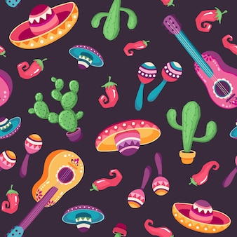 Patrón sin costuras mexicano