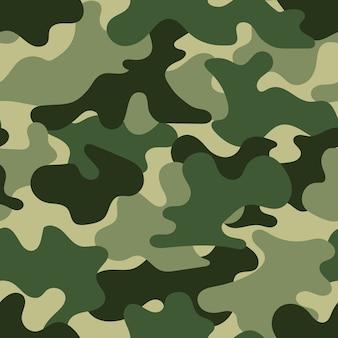 Patrón sin costuras militar, ilustración