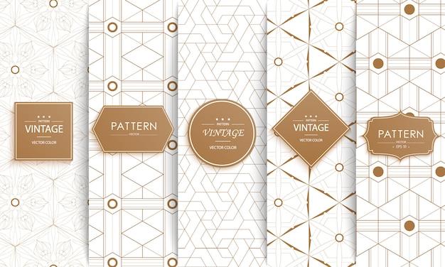 Patrón sin costuras de moda decorativa con estilo.