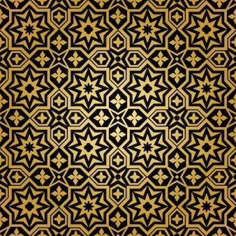 Patrón sin costuras musulmán. ornamento de fondo, diseño abstracto islámico, decoración ornamental, ilustración vectorial