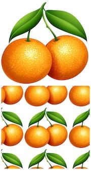 Patrón sin costuras naranja