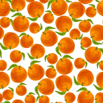 Patrón sin costuras de naranja