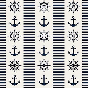 Patrón sin costuras náutica. ilustracion vectorial