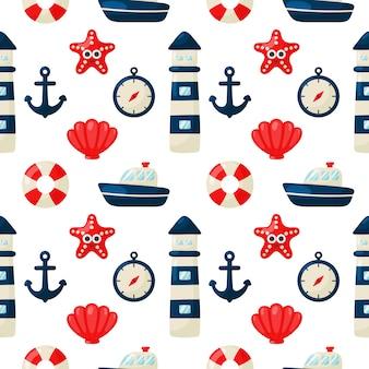 Patrón sin costuras náutica