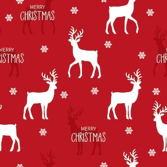 Patrón sin costuras de navidad con fondo de renos