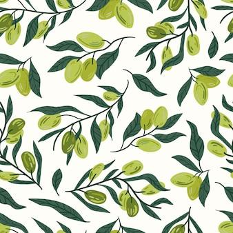 Patrón sin costuras oliva