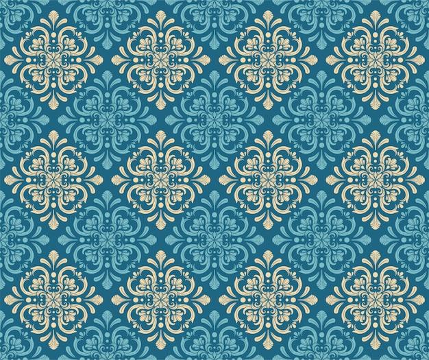 Patrón sin costuras ornamentales azul