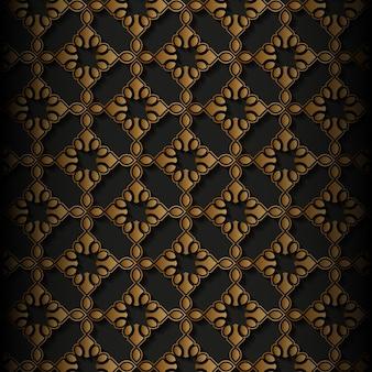 Patrón sin costuras de ornamento de estilo étnico de lujo