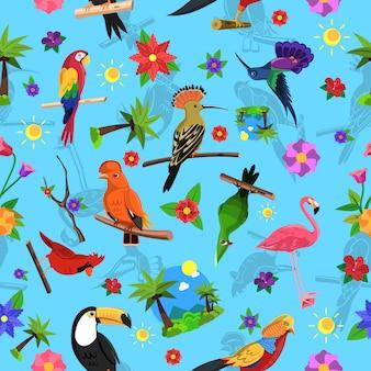 Patrón sin costuras de pájaro