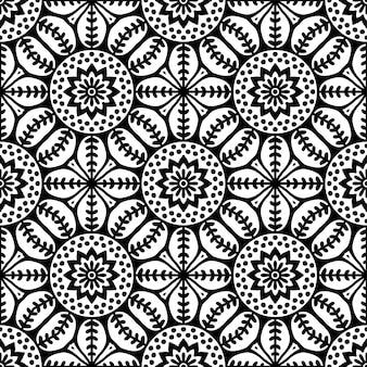 Patrón sin costuras patrón de elementos decorativos vintage