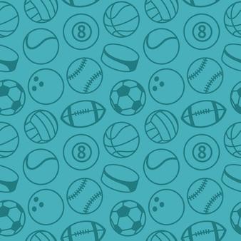 Patrón sin costuras con pelotas de deporte