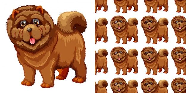 Patrón sin costuras de perro
