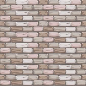 Patrón sin costuras piedra ladrillo gris