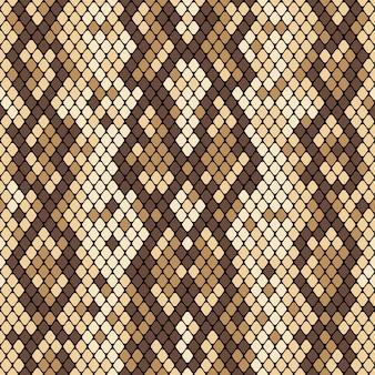 Patrón sin costuras de piel de serpiente