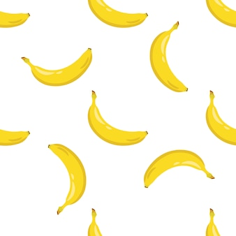 Patrón sin costuras de plátano amarillo.