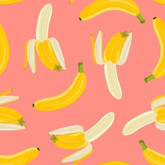 Patrón sin costuras de plátano