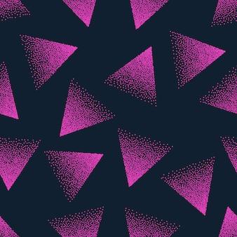 Patrón sin costuras punteado abstracto rosa