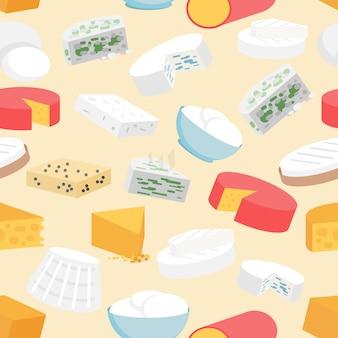 Patrón sin costuras de queso