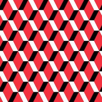 Patrón sin costuras rectángulo rojo