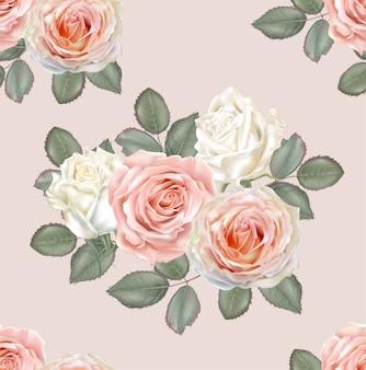 Patrón sin costuras rosas