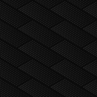Patrón sin costuras de semitono geométrico gris oscuro de vector
