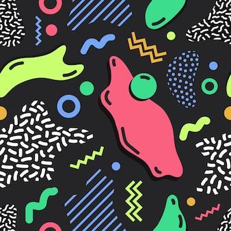 Patrón sin costuras simple moderno con manchas de colores brillantes