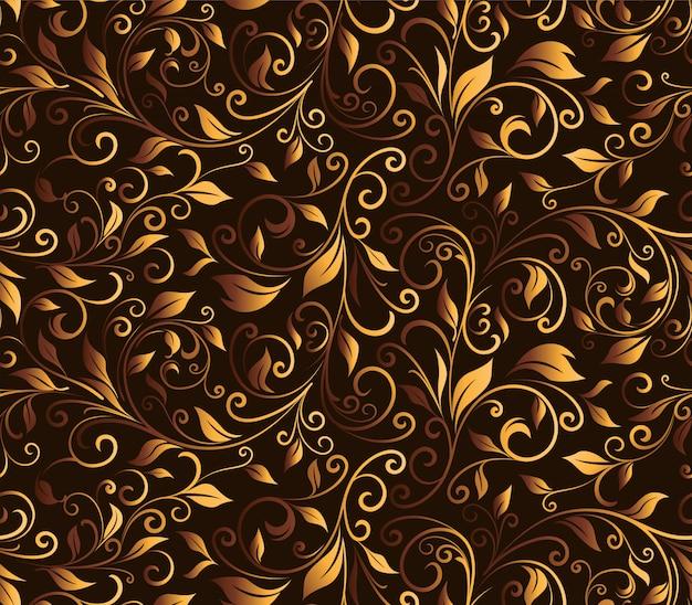 Patrón sin costuras tallado floral de lujo
