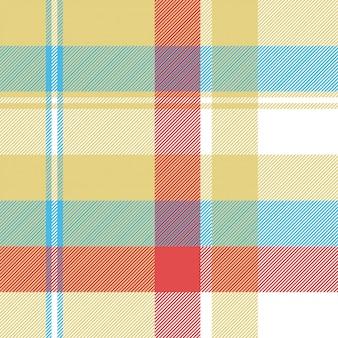 Patrón sin costuras tartán a cuadros amarillo