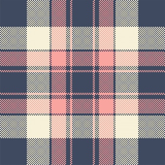 Patrón sin costuras de tartán textil a cuadros