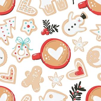 Patrón sin costuras con temática navideña