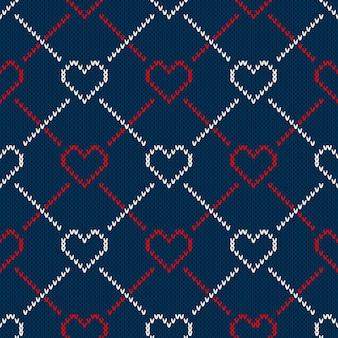 Patrón sin costuras en la textura de punto de lana
