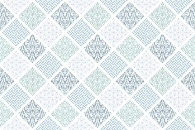 Patrón sin costuras tradicional japonés repetible horizontal y verticalmente.