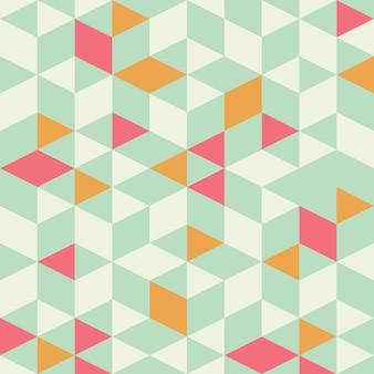 Patrón sin costuras triángulo geométrico con menta de color