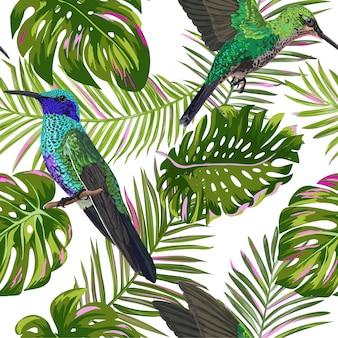 Patrón sin costuras tropical