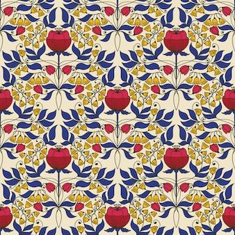 Patrón sin costuras vintage floral para fondos de pantalla retro