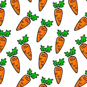 Patrón sin costuras de zanahoria